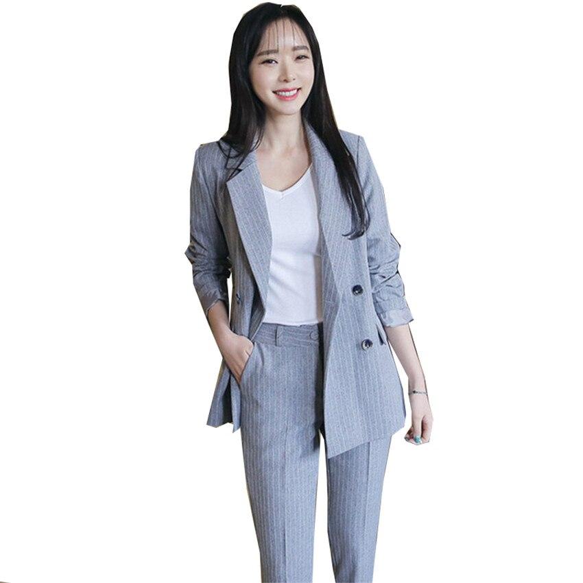 Hot Sale New Solid Simple Women Pants Suits Blazers Suit 2 Two Piece