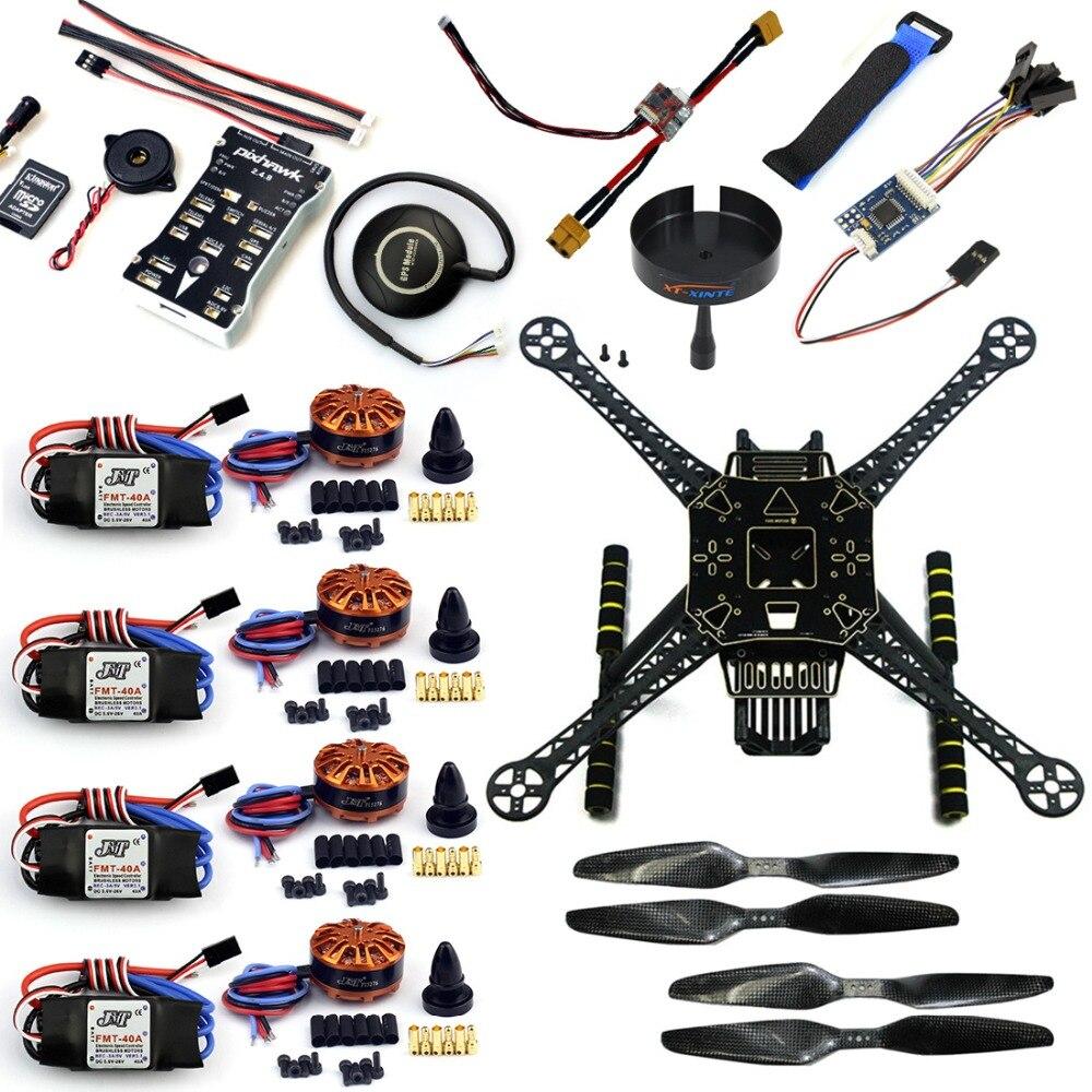DIY RC Drone 4-Axis S600 F450 Frame Kit PX4 PIX 2.4.8 Flight Controller Integrate Buzzer 700kv Motor GPS XT60 Plug No TX