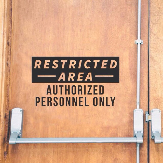 Authorized personnel only decal restricted area store business restaurant sign vinyl sticker window door waterproof nw18