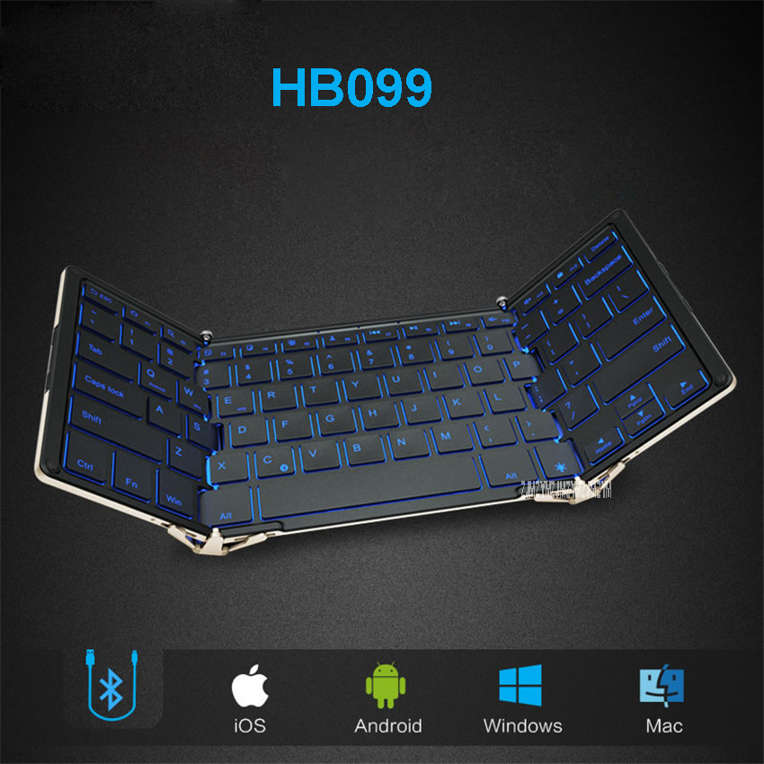 folding wired bluetooth keyboard hb099 andrews flat panel mobile phone notebook general small. Black Bedroom Furniture Sets. Home Design Ideas