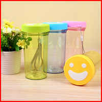 Free shipping Lovely smiling face plastic cup water bottle Wholesale gift advertising cup