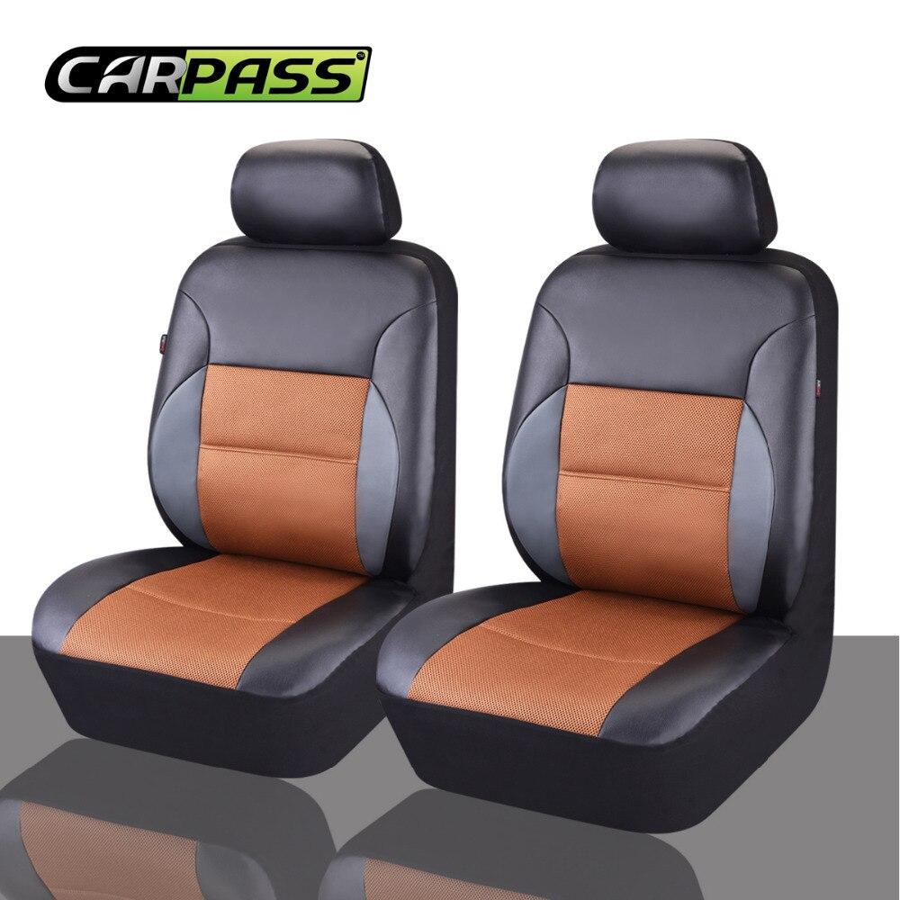 Car-pass Couverture de siège de voiture Universel en cuir PU Avant 2 - Accessoires intérieurs de voiture - Photo 4