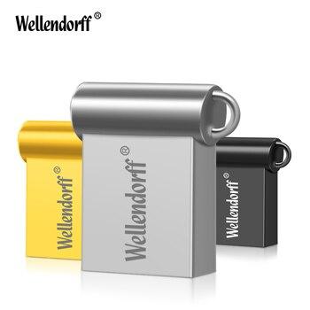 Metal Usb Flash Drive Mini Pen drive 64GB 16GB 8GB USB 2.0 Flash Drive Pendrive New Usb Stick Custom USB Flash mini gift