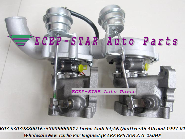 K03 53039880016 53039880017 Turbo Turbocharger for Audi S4 A6 Quattro A6 Allroad 1997-01 AJK ARE BES AGB 2.7L 250HP (4)