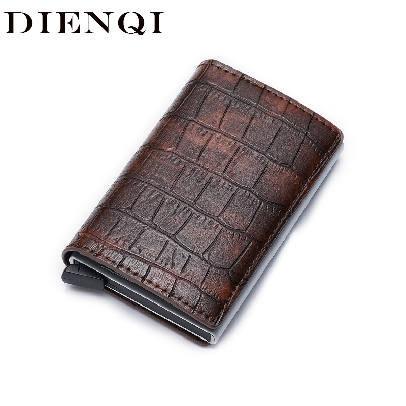 DIENQI Smart Rfid Men Wallets Money Bag Male Vintage Black Short Purse 2019 Small Magic Thin Slim Wallets Mini Wallets Carteira