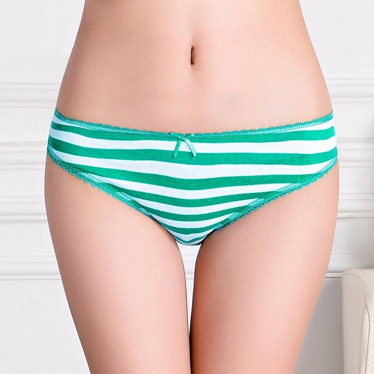 7d9d185acac0d 2015 New stripe print lady panties cotton boyleg women underwear short  pants stretch cotton lady brief lingerie intimate undergarment