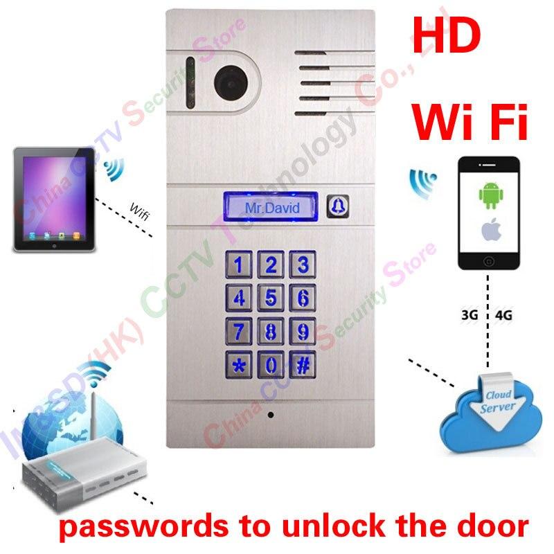 Hot New 3g 4g/WiFi IP citofono a due vie citofono e a distanza di sblocco porta, globale del portello del video telefono cellulare il Codice Tastiera