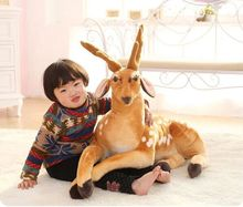 new lovely plush Sika deer toys big simulation lying Sika deer doll birthday gift toy about 90cm