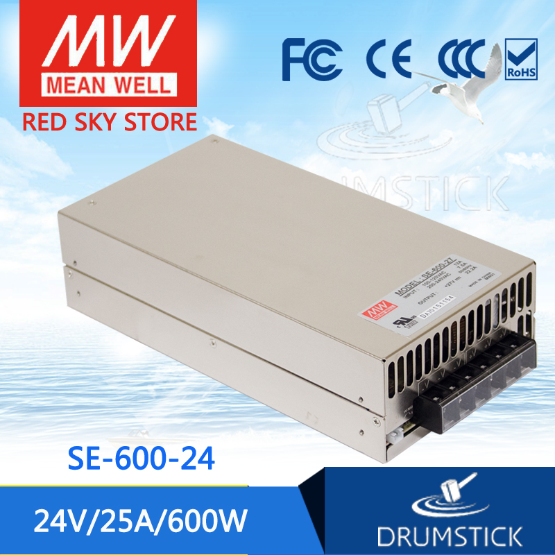 Competitive Products MEAN WELL SE-600-24 24V 25A meanwell SE-600 600W Single Output Power Supply [Hot1] mean well apc 25 600 waterproof ip67 25w power supply grayish white 100 240v