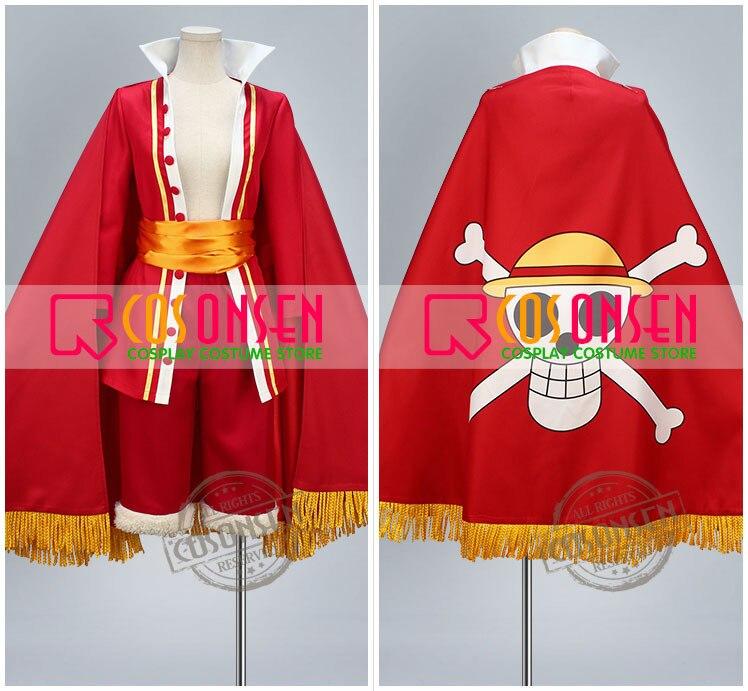 COSPLAYONSEN One Piece 15th Anniversary Monkey D Luffy Cosplay Costume Full Set Custom Made