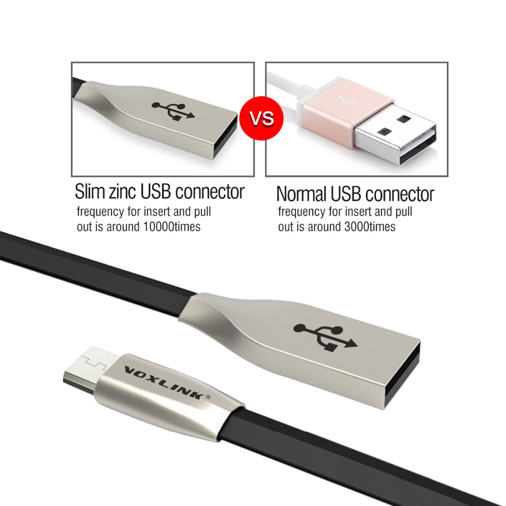 Aliexpress com buy voxlink usb cable for iphone 7 plus zinc alloy flat pvc wire data sync usb charger cable for iphone 7 6s 6 plus 5s ipad mini air from