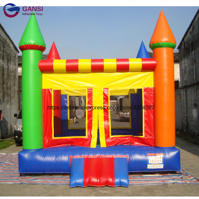 13ft funny trampoline inflatable bouncer castle with free air blower,0.55mm pvc Inflatable house for kids ao058b 2m white pvc helium balioon inflatable sphere sky balloon for sale attractive inflatable funny helium printing air ball