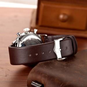 Image 5 - Top Brand Luxury PAGANI Design Chronograph Leather Mens Watches Quartz Fashion Sport Military Wristwatch Men relogio masculino