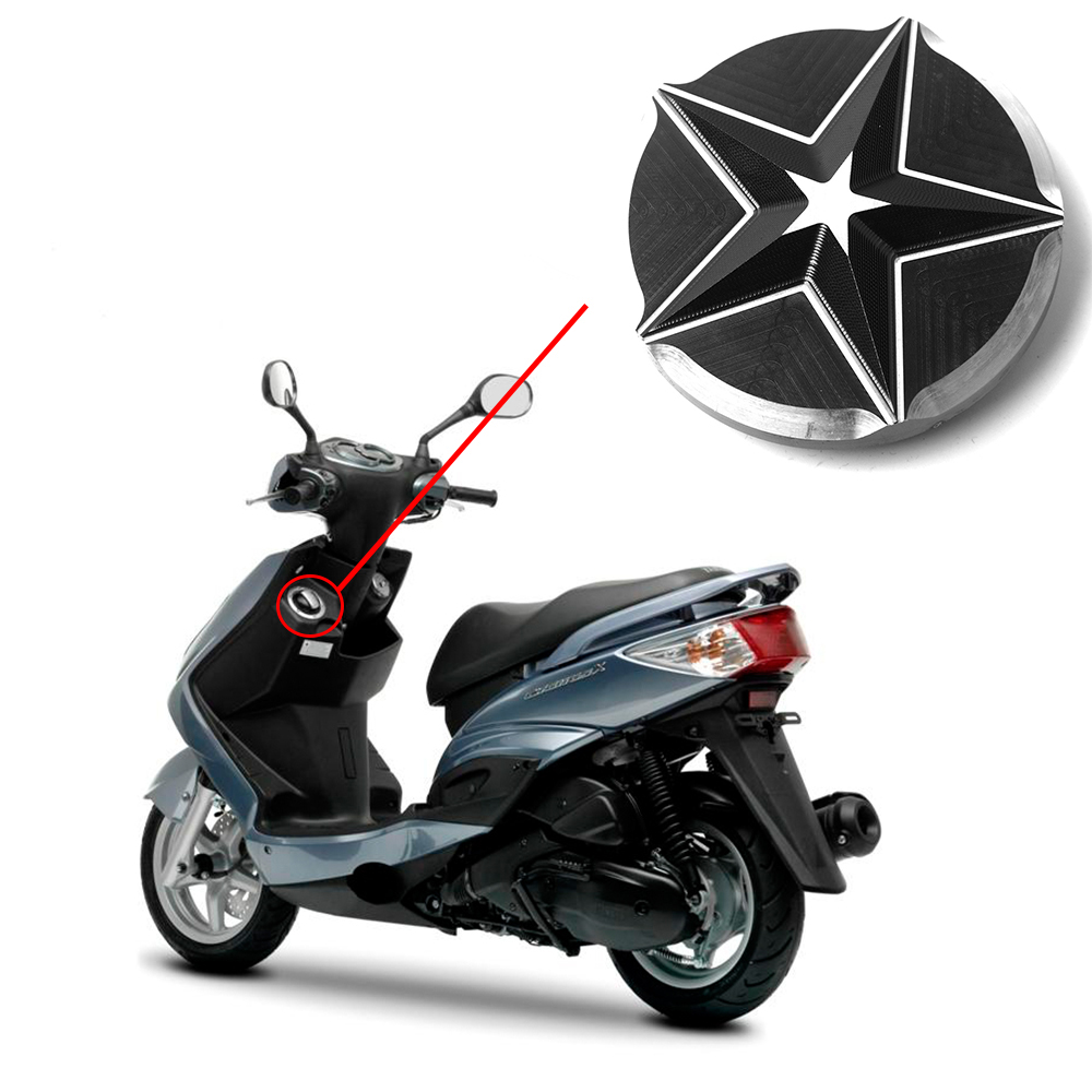 Motorbike Soocter Oil Filter Star Cap Fuel Gas Tank Cap Cover Oil Tank Fuil Cover For Yamaha BWS R 125 SMAX 155 GTR 125 Cygnus motorbike scooter cnc aluminum alloy rotatable spinable cooling fan cap cover protector guard for yamaha bws x 125 cygnus 125