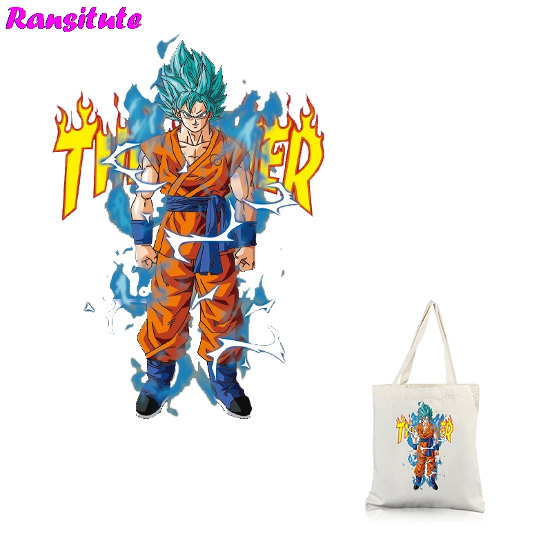 Ransitute R318 Dragon Ball Can Be Washed And Heat Transfer Printing Thermal Transfer T-shirt Applique Backpack Patch