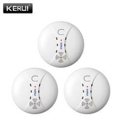 KERUI 3 шт. 433 мГц Домашняя Кухня безопасности беспроводной пожарный детектор дыма датчик сигнализации для GSM Wi-Fi сигнализация