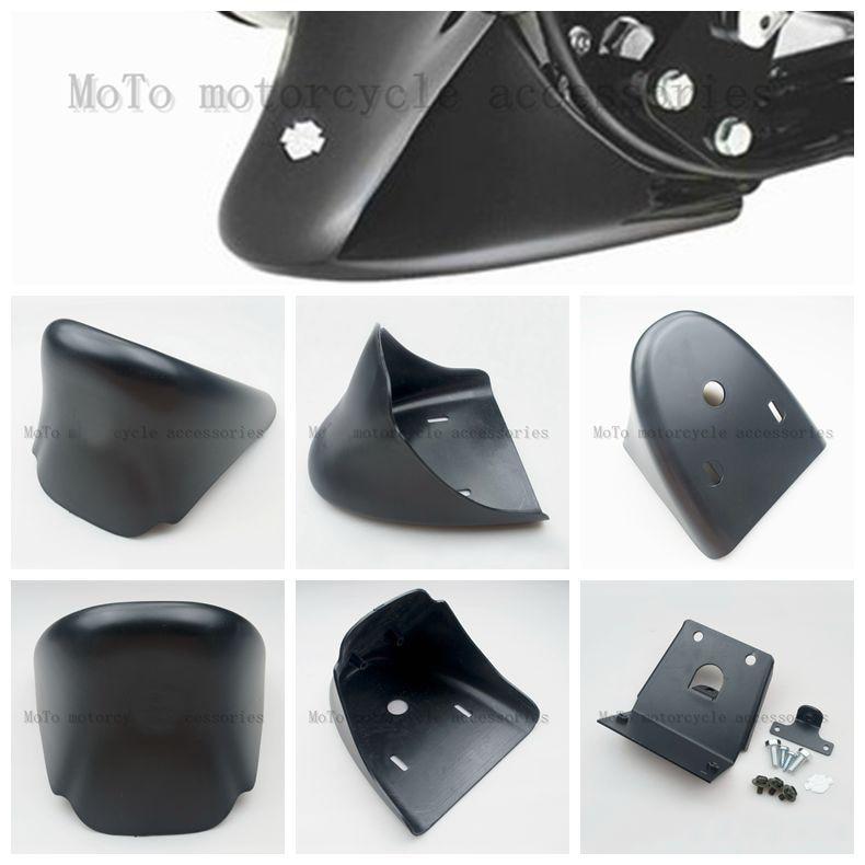 Matt Black Universal Motorcycle Chin Fairing Engine Bottom Mudguard Front Spoiler Fender Cover For XL883 1200 2005 2004-2014