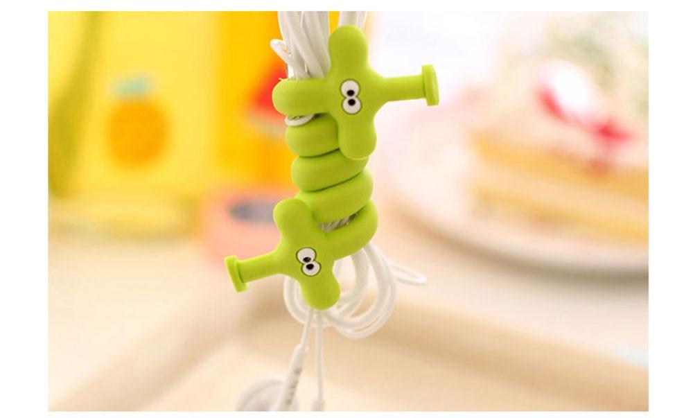 CUSHAWFAMILY Модные полосы животных моталки уха механизм хранения линии концентратор многофункциональные кабели для получения Клип сумка Клип
