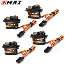 Mini Servo analógico de engranaje metálico EMAX ES08MA II, 4 unidades por lote, 12g/2,0 kg/0,12 seg Mg90S
