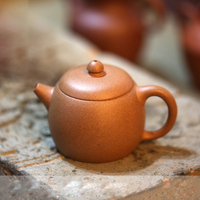 120ml Genuine Yixing Purple Clay Teapot Old Duan Mud Wide Mouth Wen Dan Teapots Small Tea Pot Tea Water Drinkware Decoration