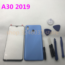 Original Front Screen Glass Lens For Samsung Galaxy A30 A305 A305F A305DS Rear Battery Cover Door Back Housing + Sticker Tools