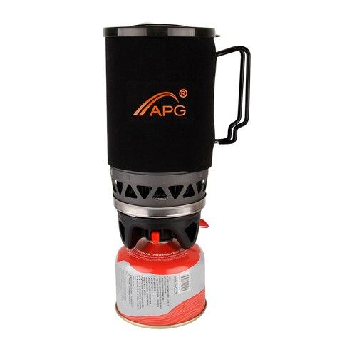 portatil 1400 ml sistema de caminhadas ao ar livre camping fogao cozinhar calor pote trocador