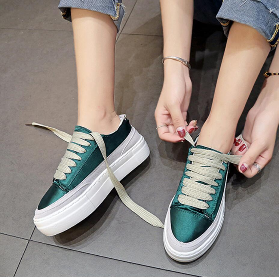 XWWDVV Spain niche shoes casual versatile canvas shoes new thick bottom flat white shoes women 43