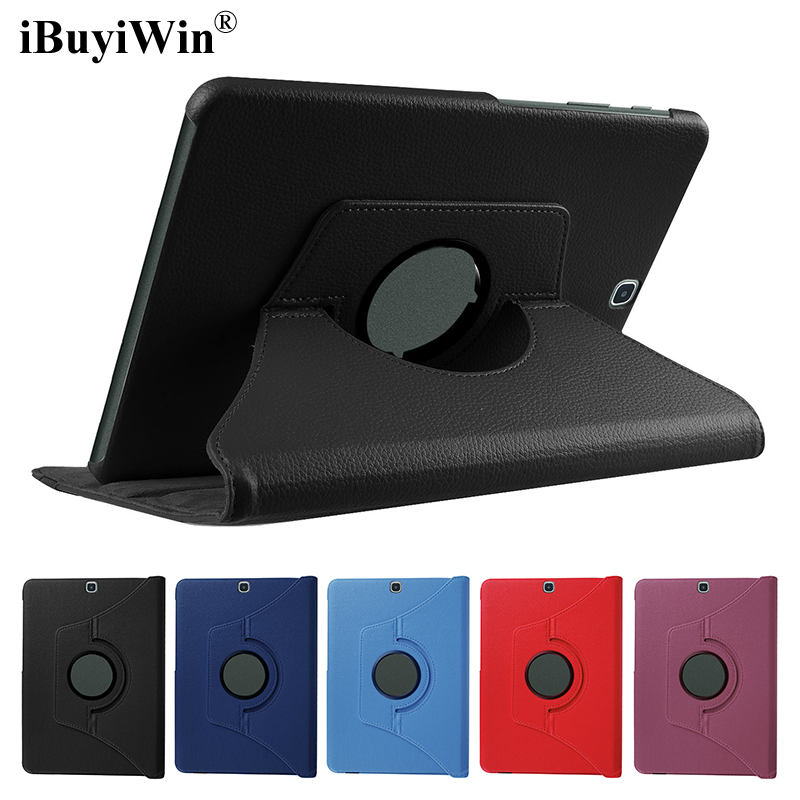360 Rotating Case for Samsung Galaxy Tab S2 9.7 T810 T815 SM-T810 PU Folding Stand Smart Cover Tablet Case Fundas Coque+Film+Pen for tab s2 sm t810 kids safe shockproof heavy duty silicone hard case cover for samsung galaxy tab s2 9 7 t810 t815 hand hold
