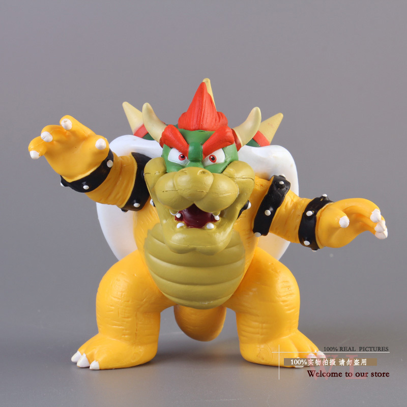 Free Shipping Super Mario Bros Bowser PVC Action Figure Model Toy SMFG230 super mario bros new plush bowser soft toy stuffed tortoise bag cute backpacks
