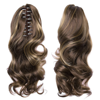 TOPREETY Heat Resistant Synthetic Hair 90gr 14″ 35cm Wavy Claw Clip in/on Ponytail Hair Extensions CP-222