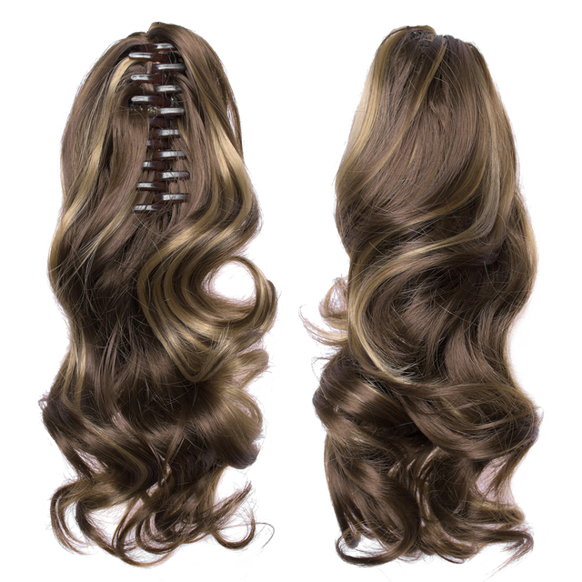 """TOPREETY Heat Resistant Synthetic Hair 90gr 14"""" 35cm Wavy Claw Clip in/on Ponytail Hair Extensions CP-222"""