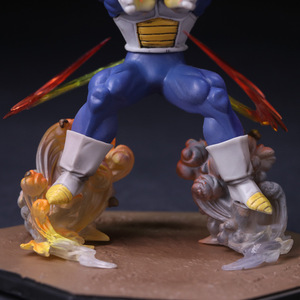 Image 5 - Anime Dragon Ball Z  Vegeta Zero Version Action Figure DBZ Shock Wave Battle Ver.  PVC Collectible Model Toy  15cm