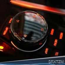 SRXTZM Para BMW X1 F25 X3 X4 F15 X5 F16 X6 1 2 3 5 Série F10 F20 F30 Interior Multimídia Botões Cobrir Acessórios de Decoração
