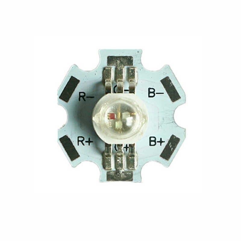 10/50/100 sztuk hurtownie 3 kolory z PCB koraliki do lampy SMD okrągły LED COB RGB Chip żarówka LED światła Chip 1 W/3 W diody układu o dużej mocy