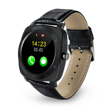 2016 de alta calidad x3 bluetooth smart watch cuero android smartwatch podómetro sleep monitor remoto cámara música sim tf tarjeta