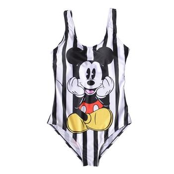 21 Pattern One-Piece 3D Cartoon Swimwear Women Open Back Bikini 2019 Monokini Swimming Suit Backless Beach Wear Women Swimsuit 1