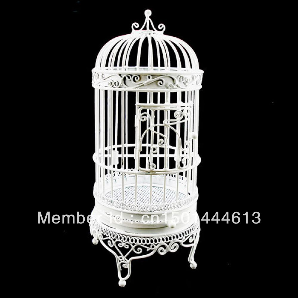 White Wire Birdcage Bird S Cage Jewelry Display Home Decor Dollhouse Furniture On Aliexpress Alibaba Group