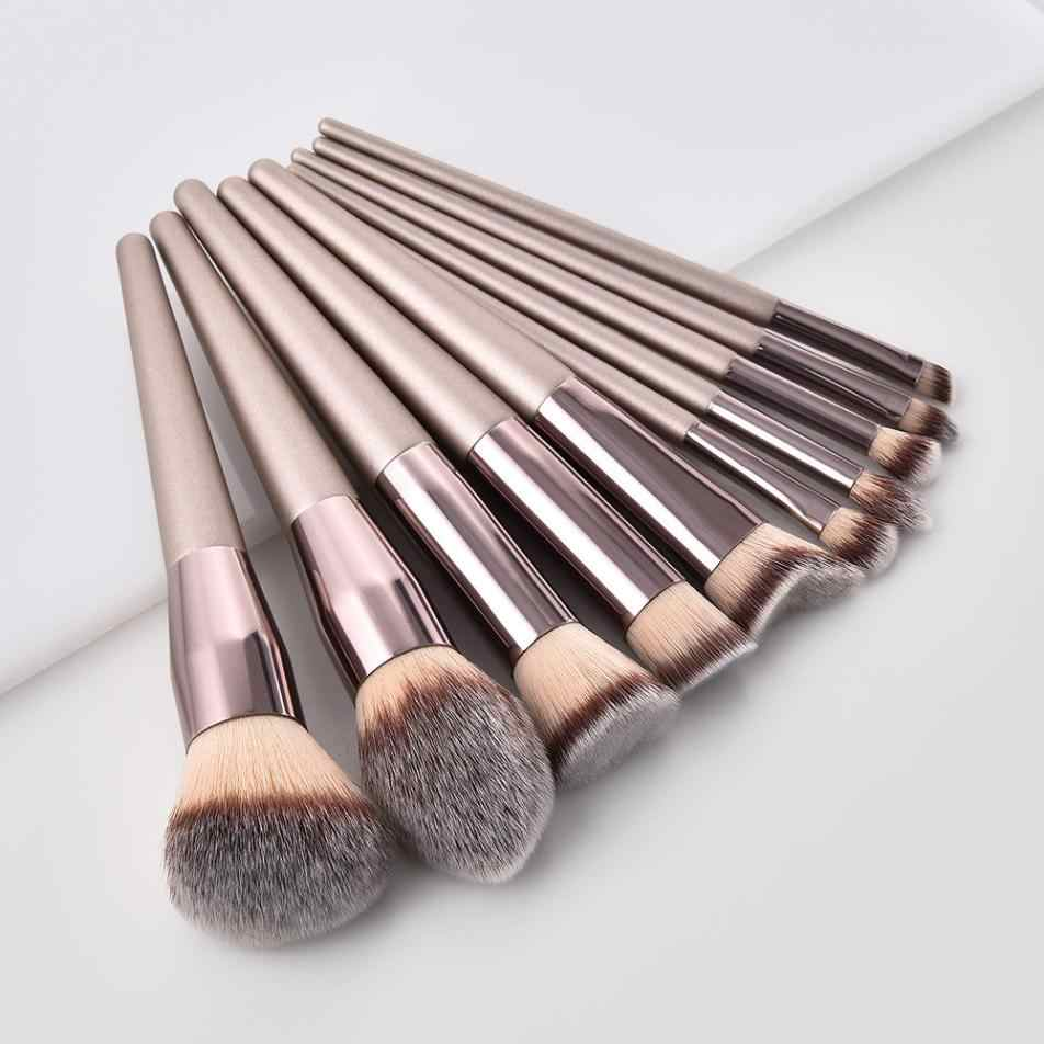 Wanita Fashion Makeup Brushes Set Kayu Foundation Alis Eyeshadow Kosmetik Kuas Tools Pincel Maquiagem Drop Pengiriman
