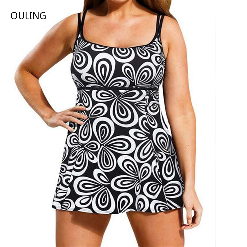 bathing suits for plus size new print black one swimsuit plus size swim skirt 12382