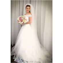 kissbridal Elegant Wedding Dress 2019 Sweep Train