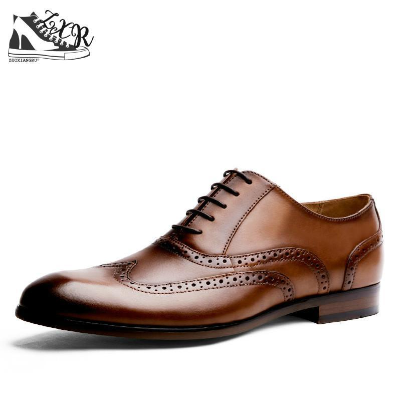 Высококачественные кожаные ботинки Бизнес на шнуровке острый носок стильный и удобное платье Для мужчин носком из микрофибры Туфли без каб...