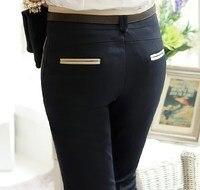 XXXL плюс Размеры женский тонкий тощий платье костюм брюки черный хаки женские Повседневное карандаш брюки полиэстер рабочие брюки черный, х