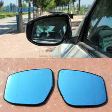 smRKE 2Pcs For Nissan Teana Rearview Mirror Blue Glasses Wide Angle Led Turn Signals light Power Heating