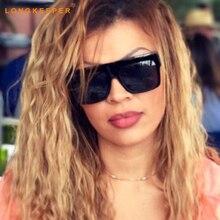 New Fashion Kim Kardashian Style Sunglasses Women Brand Design Vintage Square Sun Glasses Gafas De Sol Feminino LongKeeper