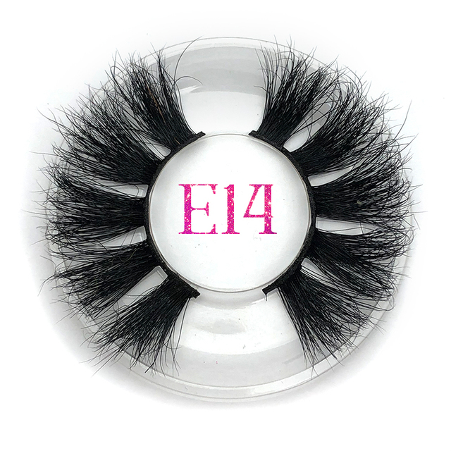 844601adba0 Mikiwi 25mm Mink Lashes False Eyelashes E14 Thick Strip 25mm 3 D Mink Lashes  Crossing Makeup