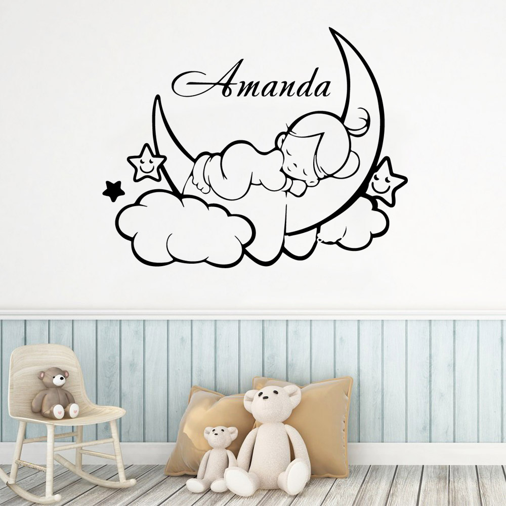 Removable Art Quote Wall Sticker Decal Mural Kids Baby Nursery Room Switch hX