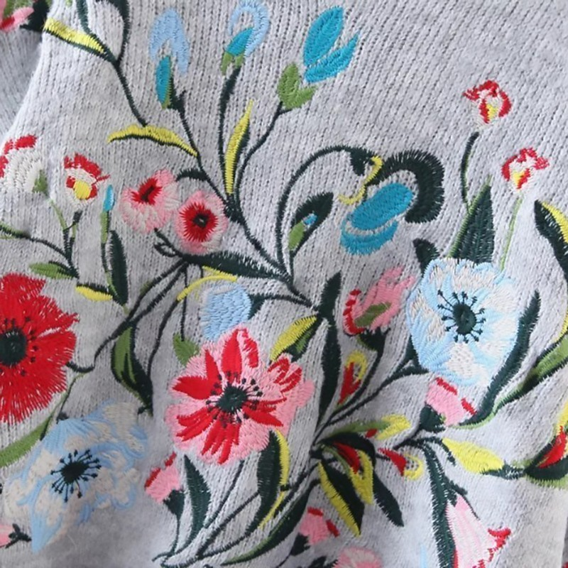 Flower Embroidered Sweater  4