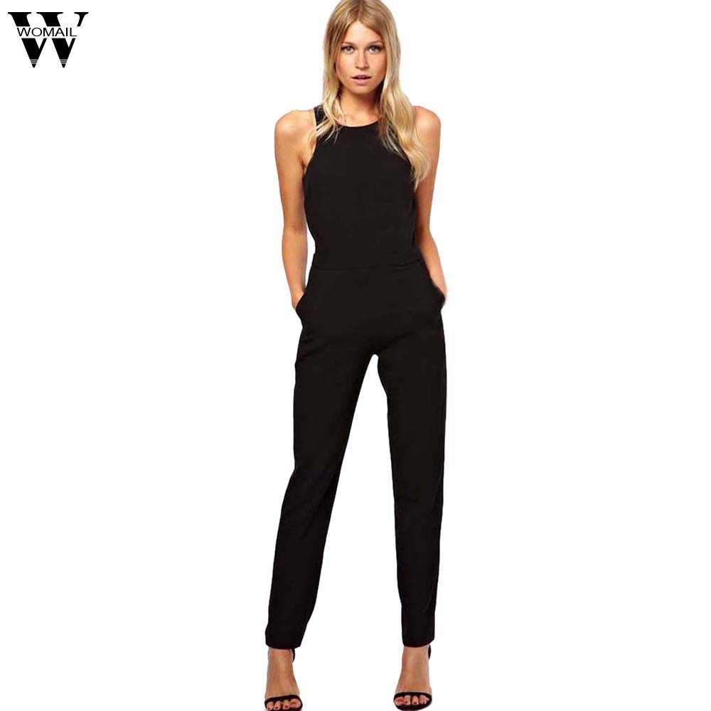 Womail bodysuit Women Summer Fashion Sleeveless Bodycon Evening Party   Jumpsuits   Trousers Playsuit   Jumpsuit   NEW dropship M7