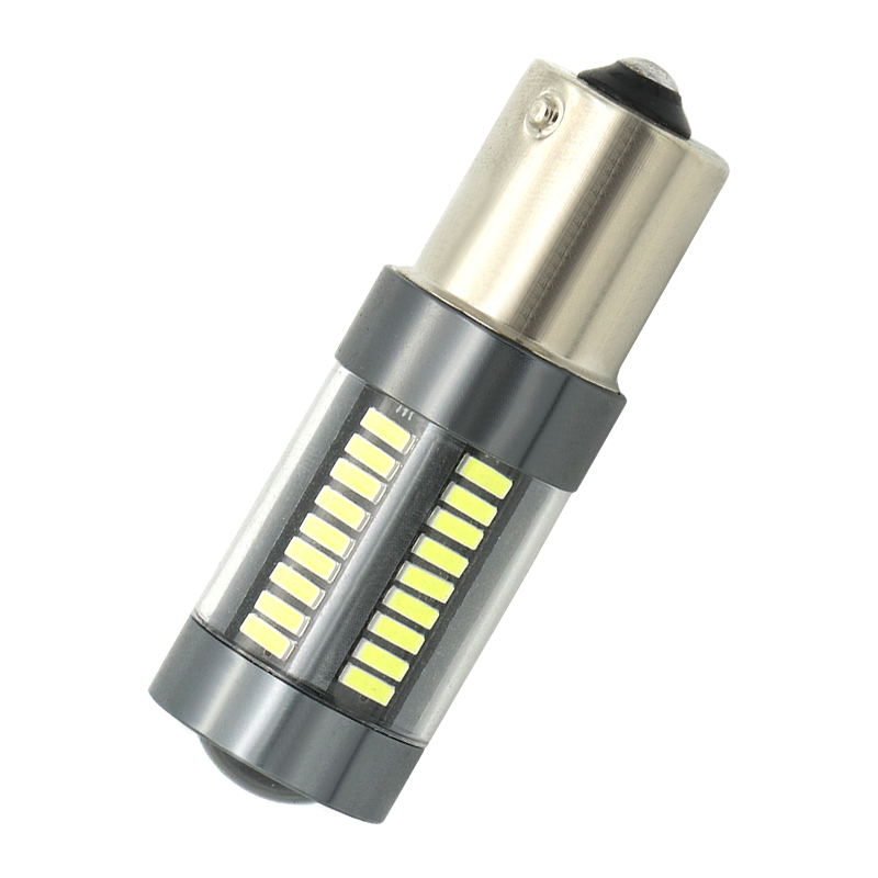 1156 P21W 7056 BA15S 66 SMD 4014 LED Car Brake Lights Fog Bulb Auto Reverse Lamp Daytime Running Light 6000K White 12V new arrival a pair 10w pure white 5630 3 smd led eagle eye lamp car back up daytime running fog light bulb 120lumen 18mm dc12v