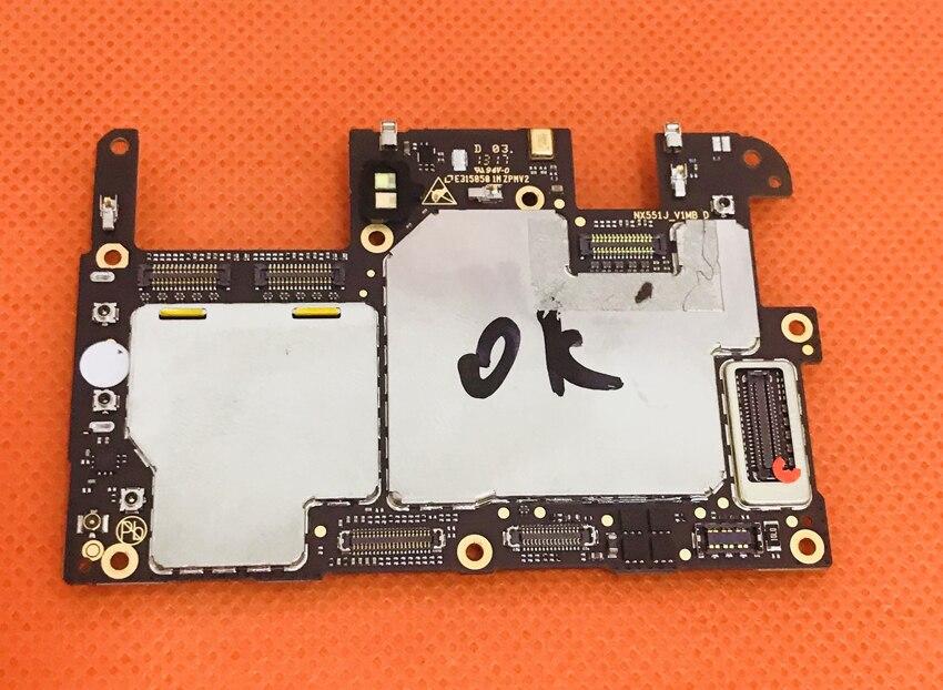 Usado Original mainboard 4g RAM + M2 NX551J 64g ROM Motherboard para Nubia Snapdragon 625 Livre Núcleo Octa grátis